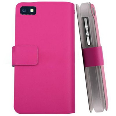 Plastic Skin Case Cover Protective PU Leather with Card Holder for Blackberry Z10
