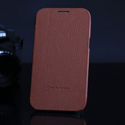 Genuine Leather Protective Case with Litchi Veins Design for Samsung Galaxy Note 2 N7100