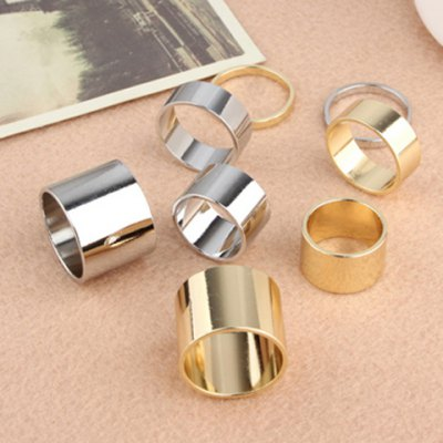 A Suit of Solid Color Alloy Knuckle Rings