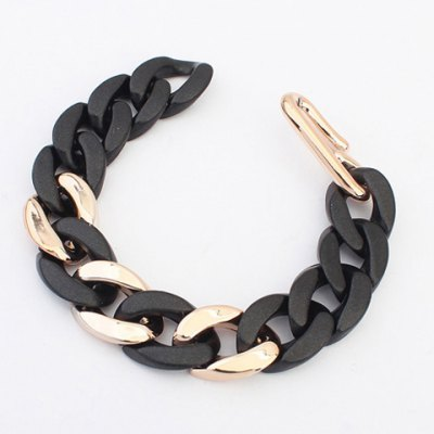 Simple Chic Style Bicolor CCB Chain Bracelet For Women simple cm 379