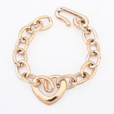 Simple Chic Style Openwork Heart Shape Bracelet For Women