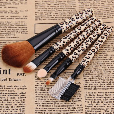 5PCS High-end Brush Sets Soft Cosmetic Face Powder Make-up Brush