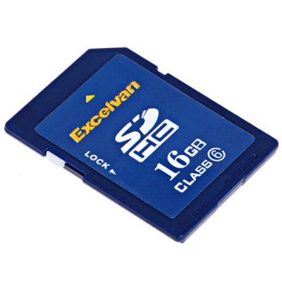 Excelvan 16GB Class 6 High Quality Secure Digital SD/SDHC Memory Card for Camera/Camcorder/PDA