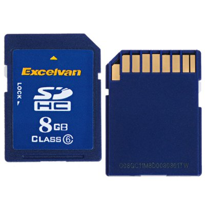 Excelvan - Excelvan 8GB Class 6 High Quality Secure Digital SD/SDHC Memory Card for Camera/Camcorder/PDA