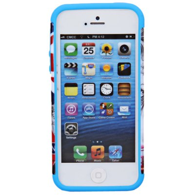 Big Ben Pattern Double Layers Design Silicone and Plastic Case for iPhone 5 / 5S