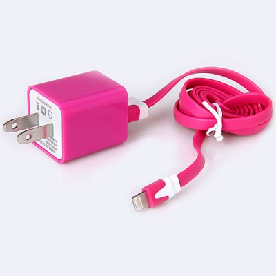 Special Design 3A Dual USB Power Charger + 1M 8 Pin USB Noodle Cable for iPhone 5 / 5C / 5SiPhone Cables &amp; Adapters<br>Special Design 3A Dual USB Power Charger + 1M 8 Pin USB Noodle Cable for iPhone 5 / 5C / 5S<br><br>Compatibility: iPhone 5S, Devices that support get recharged via USB, iPhone 5, iPhone 5C<br>Type: Adapters, Cable<br>Interface type: 8 pin<br>Cable length (cm)  : 100 cm<br>Plug: US plug<br>Input: AC 100-240V 50/60Hz 0.5A<br>Output: DC 5V 2A/5V 1A<br>Package weight : 0.08 kg<br>Package size (L x W x H) : 8.0 x 8.0 x 4.0 cm<br>Package Contents: 1 x US Standard Dual USB Charger Adapter, 1 x USB Data Sync/Charging Cable