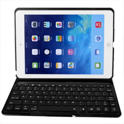 F5S Fashion Style Multi - colors Backlight Bluetooth Wireless Keyboard and PU Leather Case for iPad Air ( iPad 5 ) with Stand Function