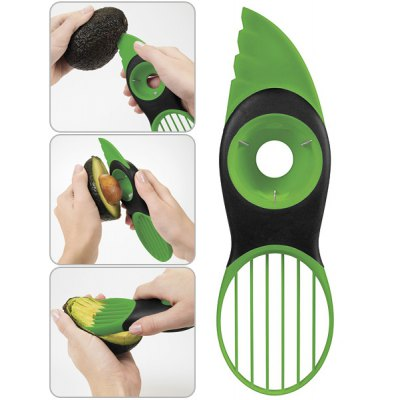 Practical and Multifunctional 3-in-1 Plastic Avocado Pitter Slicer
