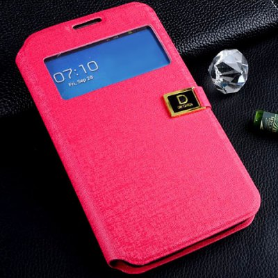 PU Leather D Button Cover Case with Oracle Pattern for Samsung Galaxy Note 2 N7100