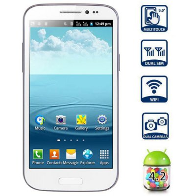 GT - T9500 5.0 inch  Phablet Android 4.2 SP6820 1GHz WVGA Screen WiFi Dual SIM Dual Camera