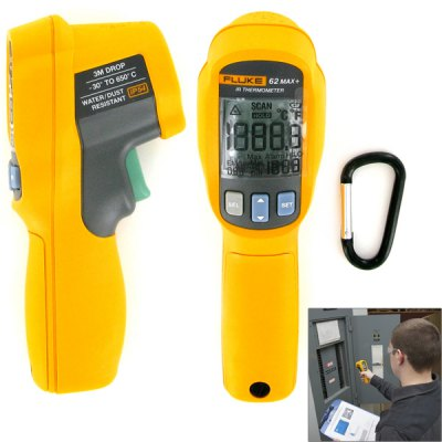 FLUKE - 62 MAX+ Professional Industrial Non-Contract Dual Laser Infrared Digital Thermometer Gun Temperature Meter Tester