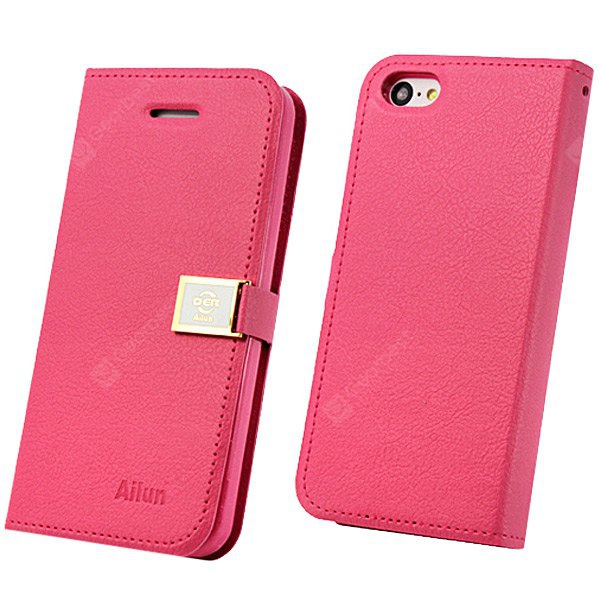 Buy Hello Deere Cool Design Ailun Series PU Leather Case iPhone 5C Card Holder ROSE MADDER