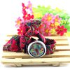 Chinoiserie Kaleidoscope Watch with Flower Patterned Cloth Band Design deal