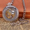 cheap Vintage Style Mechanical Pocket Watch with Flip Dial Design