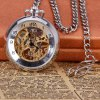 Vintage Style Mechanical Pocket Watch with Flip Dial Design