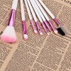 best 8PCS High-end Brush Sets Soft Cosmetic Face Powder Make-up Brush with English Letters Pattern Bag