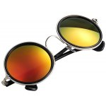 Cool Round Shape Sunglasses with Red Coating PC Lens and Comfortable Frame deal