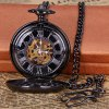 Vintage Style Mechanical Pocket Watch with Flip Round Dial Design for sale