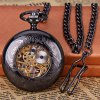 Vintage Style Mechanical Pocket Watch with Flip Round Dial Design photo