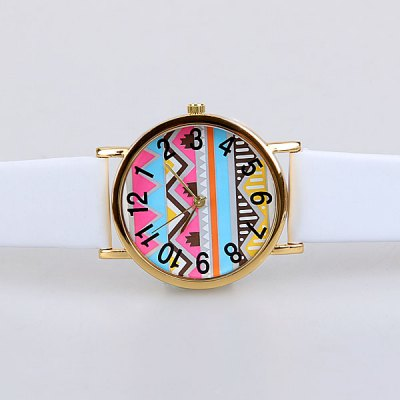 Casual Watch with Wave Patterned Design for Women