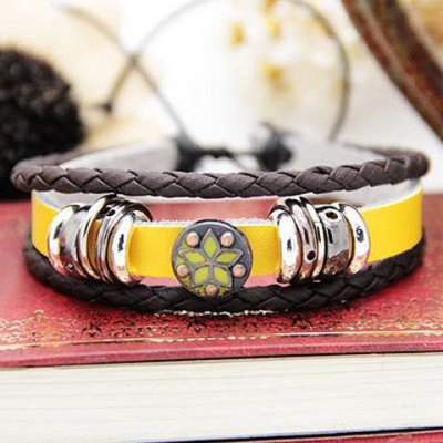 Characteristic Floral Print Multi-Layered Faux Leather Bracelet For Men and WomenMens Jewelry<br>Characteristic Floral Print Multi-Layered Faux Leather Bracelet For Men and Women<br><br>Item Type: Wrap Bracelet<br>Gender: Unisex<br>Chain Type: Leather Chain<br>Material: Rhinestone<br>Metal Type: Lead-tin Alloy<br>Style: Trendy<br>Shape/Pattern: Print<br>Length: 18.5 CM<br>Weight: 0.1 KG<br>Package Contents: 1 x Bracelet