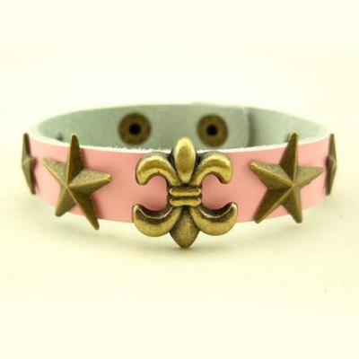Chic Style Star Shape Alloy Design Faux Leather Bracelet For Men and WomenMens Jewelry<br>Chic Style Star Shape Alloy Design Faux Leather Bracelet For Men and Women<br><br>Item Type: Chain &amp; Link Bracelet<br>Gender: Unisex<br>Chain Type: Leather Chain<br>Style: Trendy<br>Shape/Pattern: Star<br>Length: 21 CM<br>Weight: 0.1 KG<br>Package Contents: 1 x Bracelet