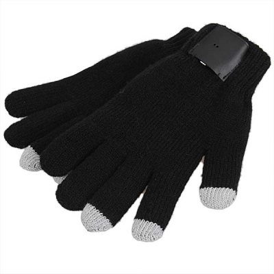 Bluetooth Talking Gloves Knitted Warm Winter Gloves with Touch Sensitive Fingers for Cell phones - Free Size
