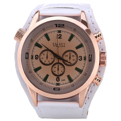 Гаджет   Three Small Decorating Hands Design Watch with Leather Band for Men Men