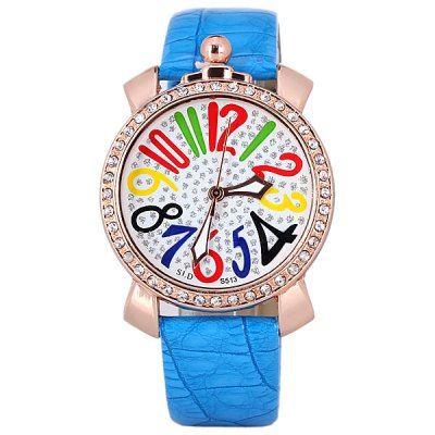 Гаджет   Colorful Numbers Time Showed Design Watch with Diamonds for Women Women