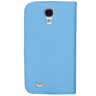 Гаджет   Plastic and Artificial Leather Material Fastener Cover Case for Samsung Galaxy S4 i9500 Samsung Cases/Covers