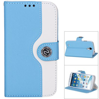 Plastic and Artificial Leather Material Fastener Cover Case for Samsung Galaxy S4 i9500