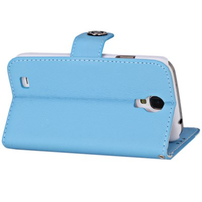 Фотография Plastic and Artificial Leather Material Fastener Cover Case for Samsung Galaxy S4 i9500