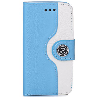 ФОТО Plastic and Artificial Leather Material Fastener Cover Case for iPhone 4 / 4S