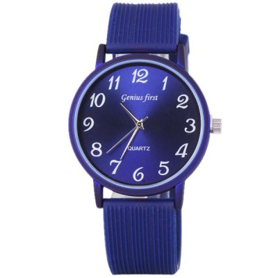 Simple Design Watch with Round Dial and Rubber Band for WomenWomens Watches<br>Simple Design Watch with Round Dial and Rubber Band for Women<br><br>Watches categories: Female table<br>Style : Fashion&amp;Casual<br>Movement type: Quartz watch<br>Shape of the dial: Round<br>Display type: Pointer<br>Case material: Stainless steel<br>Case color: Blue<br>Band material: Rubber<br>Clasp type: Pin buckle<br>Band color: Blue<br>Waterproof: Life waterproof<br>Special features: Three needles<br>The dial thickness: 0.8 cm<br>The dial diameter: 3.9 cm<br>Product weight: 40 g<br>Package weight: 0.09 kg<br>Product size (L x W x H) : 24 x 3.9 x 0.8 cm<br>Package size (L x W x H): 25 x 4.9 x 1.8 cm<br>Package contents: 1 x Watch