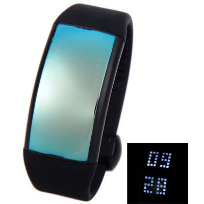 Personalized Signature 3D Pedometer Smart LED Unisex Watch with USB Flash Disk