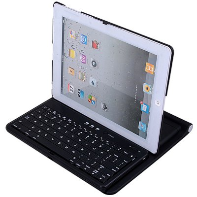 Simple Elegant Outlook Wireless Bluetooth Keyboard for iPad / iMac / iPhone / Other Bluetooth Enabled Devices Compatible with Mac OS / Windows SystemiPhone Cases/Covers<br>Simple Elegant Outlook Wireless Bluetooth Keyboard for iPad / iMac / iPhone / Other Bluetooth Enabled Devices Compatible with Mac OS / Windows System<br><br>Compatibility: iPad Air (iPad 5), iPad 4, The New iPad, iPad 2<br>Color: Black<br>Material   : Aluminum, ABS<br>Wireless distance: 10m<br>Standby time: 20 days<br>Operating frequency: 2.4GHz Spectrum<br>Operating voltage: 3.7V DC (powered by Li-ion battery)<br>Work current: &lt;5mA<br>Standby current: 1.2mA<br>Sleeping current: &lt;0.25mA<br>Product weight : 0.49 kg<br>Product size (L x W x H) : 24.8 x 21.3 x 2.3 cm<br>Package Contents: 1 x Bluetooth Keyboard, 1 x USB Charging Cable, 1 x Keyboard Cover, 1 x User Manual
