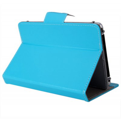 Elastic Fixing Foot Design PU Leather Stand Case for 6.5-7 inch Tablet PC
