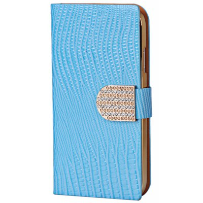 Stylish Lizard Pattern Ultrathin PU Leather + PC Cover Case with Electroplated Golden Frame for Samsung Galaxy S4 i9500 / i9505