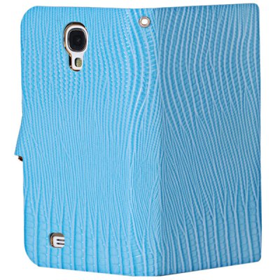 Фотография Stylish Lizard Pattern Ultrathin PU Leather + PC Cover Case with Electroplated Golden Frame for Samsung Galaxy S4 i9500 / i9505