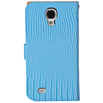 ФОТО Stylish Lizard Pattern Ultrathin PU Leather + PC Cover Case with Electroplated Golden Frame for Samsung Galaxy S4 i9500 / i9505