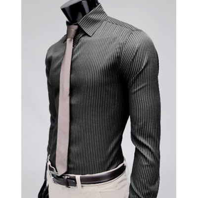 Stylish Lapel Stripe Slim Fit Long Sleeve Cotton Mens Dress ShirtMens Shirts<br>Stylish Lapel Stripe Slim Fit Long Sleeve Cotton Mens Dress Shirt<br><br>Shirts Type: Dress Shirts<br>Material: Cotton<br>Sleeve Length: Full<br>Collar: Turn-down Collar<br>Weight: 0.5KG<br>Package Contents: 1 x Shirt