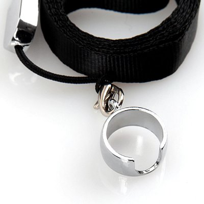 ФОТО Necklace Smooth E - Cigarette Lanyard/Hang Rope/Strap Sling with Steel Ring Clip for EGO Series Electronic Cigarette