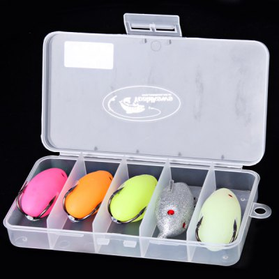 Practical 5PCS Egg Shape Frog Soft Fishing Lure Bait with Hook