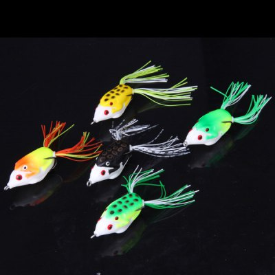 5PCS Simulation Frog Soft Fishing Lure Bait with Hook and Box