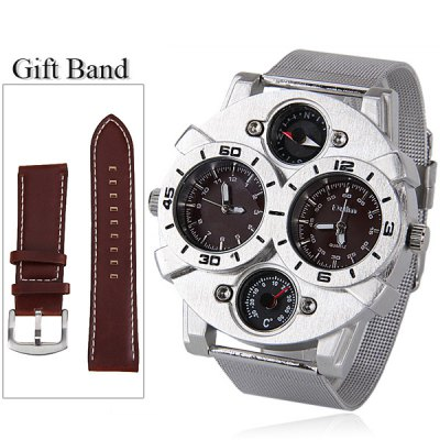 Oulm Brand Watch with Double - movtz Compass Decorating Design for Men