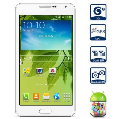 Ulefone n9005 Android 4.2 5.5 inch 3G Phablet MTK6582 Quad Core 1.3GHz 4GB ROM QHD Screen GPS Gesture Sensing