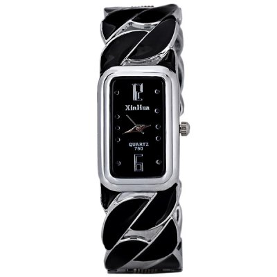 Гаджет   Beautiful Bracelet Style Quartz Watch with Rectangle Dial 2 Arabic Numbers and 10 Dots Indicate for Women