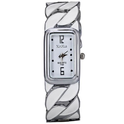 Гаджет   Beautiful Bracelet Style Quartz Watch with Rectangle Dial 2 Arabic Numbers and 10 Dots Indicate for Women Women