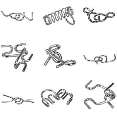 Фотография 2014 Fashion Special Hot Sale Metal Rings 12 Sets Metal Ring Puzzle IQ Brain Teaser Test Toy