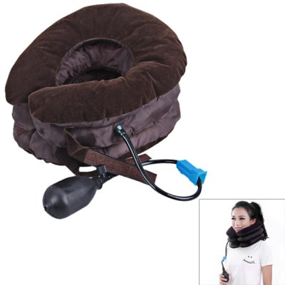 Anti - allergy Straight Flannel Material Cervical Vertebra Tractor with Three - Layer Design